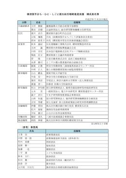 横須賀市まち・ひと・しごと創生総合戦略推進会議 構成員名簿 (参考