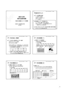 統計分析/統計基礎理論 第2回講義資料 - 松井啓之