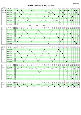 平成26年8月度運航スケジュール(変更2)