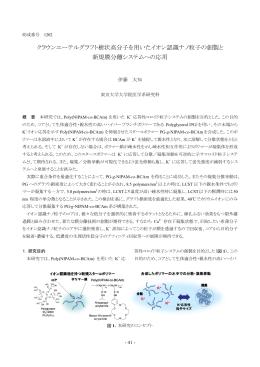クラウンエーテルグラフト樹状高分子を用いたイオン認識ナノ粒子の創製