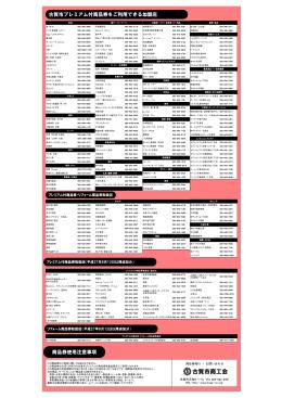 平成27年度古賀市プレミアム商品券・リフォーム商品券加盟店名簿