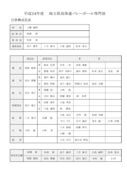 分掌構成員表【Pdf】 - 埼玉県高等学校体育連盟 バレーボール専門部