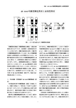03d de novo 均衡型構造異常と表現型異常