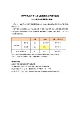 神戸市乳幼児等・こども医療費助成制度の拡充