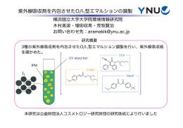 紫外線吸収剤を内包させたO/I 型エマルションの調製