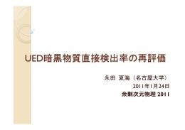 永田 夏海(名古屋大学) 2011年1月24日 余剰次元物理 2011