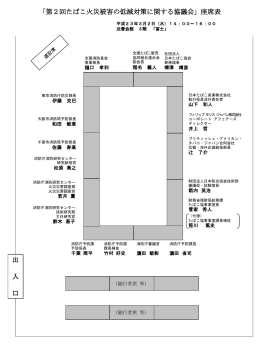 座席表 - 総務省消防庁