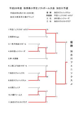 結果 - 加古川ソフトボール協会