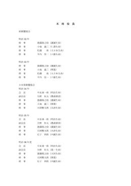 歴代役員名簿(H13年度まで)