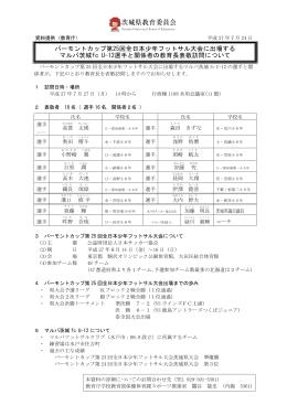 バーモントカップ第25回全日本少年フットサル大会