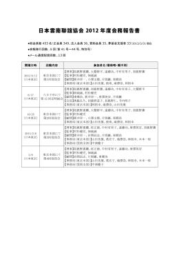 2012年度年次決算活動報告 - 認定NPO法人 日本・雲南聯誼協会