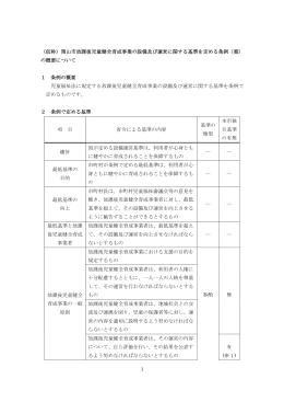 1 (仮称)岡山市放課後児童健全育成事業の設備及び運営に関する基準