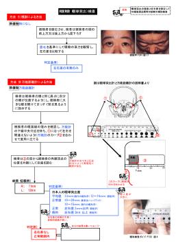 眼瞼(眼球突出)検査 - 視能訓練士 眼科検査マニュアル