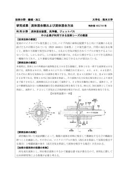 研究成果 流体混合器および流体混合方法