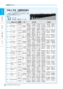 平成 27 年度 市消防団員紹介