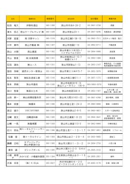 メンバー会社紹介2015