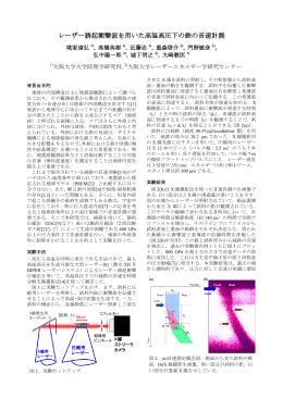 レーザー誘起衝撃波を用いた高温高圧下の鉄の音速計測