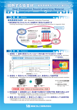 放熱する吸音材~磁気誘導発砲ウレタン(MIF)