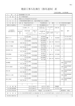 建設工事入札執行(指名通知)表