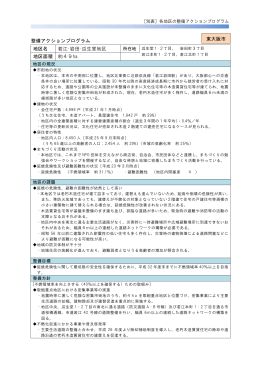 整備アクションプログラム 地区名 若江・岩田・瓜生堂地区
