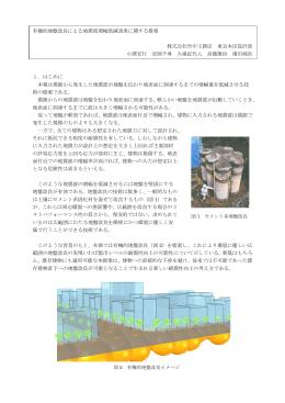 有機的地盤改良による地震波増幅低減効果に関する提案 株式会社竹中