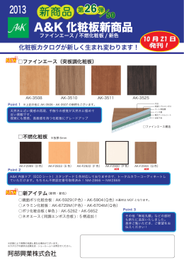A&K 化粧板新商品