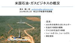 米国石油・ガスビジネスの概況 - W Energy Advisory