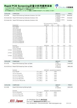 Rapid PCB Screening 定量分析用標準溶液_20150729