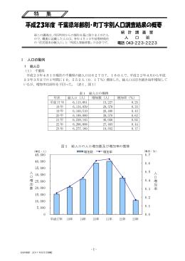 『平成23年度千葉県年齢別・町丁字別人口調査結果の概要』(PDF