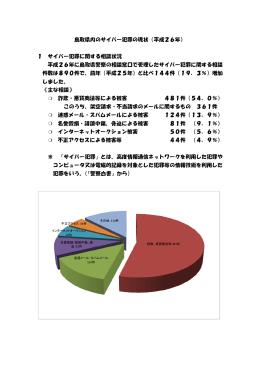 鳥取県内のサイバー犯罪の現状(平成26年) 1 サイバー犯罪に関する
