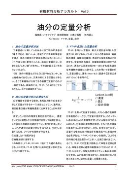 有機材料分析アラカルト Vol.3