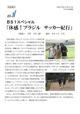BS1スペシャル 「体感!ブラジル サッカー紀行」