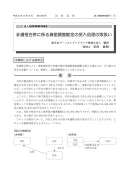 非適格合併に係る資産調整勘定の受入処理の取扱い