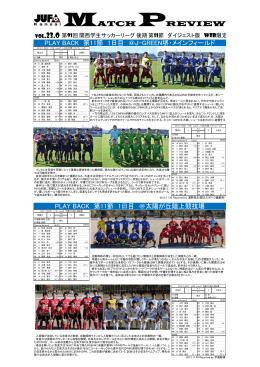 第11節リザルト - 関西学生サッカー連盟