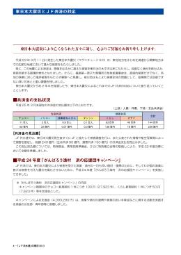 東日本大震災とJF共済の対応 共済金の支払状況 平成 24 年度