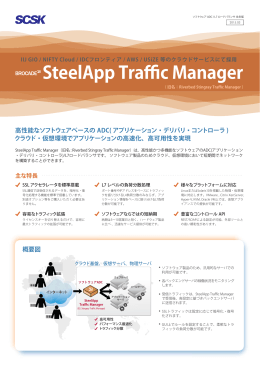 SteelApp Traffic Manager