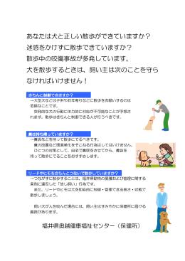 犬の散歩マナーチラシ(PDF形式:532KB)