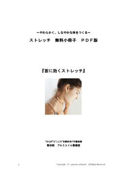 ストレッチ 無料小冊子 PDF版 『首に効くストレッチ』