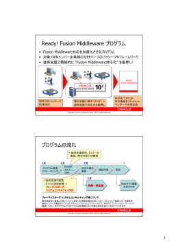 Ready! Fusion Middlewareプログラム概要