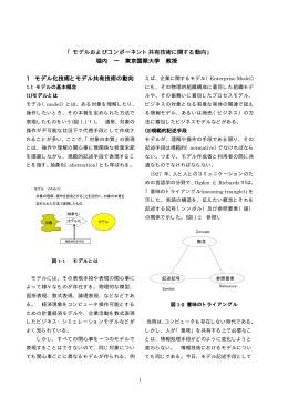 「モデルおよびコンポーネント共有技術に関する動向