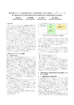 事例提示による抽象情報と具体情報の対応登録インタフェース