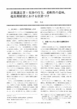 京都議定書:交渉の行方,柔軟性の意味,超長期展望における位置づけ