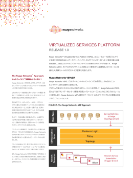 NuageNetworks™ Virtualized Services Platform