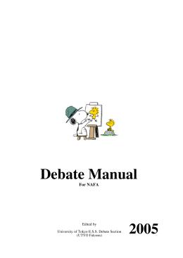 Debate Manual for NAFA