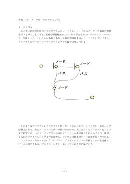 -1- 考察: データーフロープログラミング」 「 1.まえがき まとまった