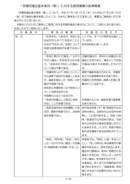 「世羅町議会基本条例(案)」に対する意見募集の結果概要