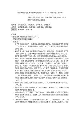 日吉津村自治基本条例策定委員会グループ1(第3回)議事録 日時:5月
