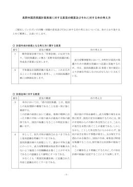 長野市国民保護計画素案に対する意見の概要及びそれに対する市の