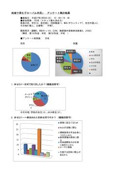 アンケート集計結果 - 埼玉NGOネット