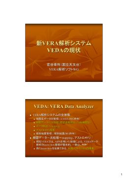 新VERAデータ解析システムVEDAの状況